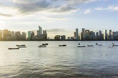 Hangzhou horisont arkivbild