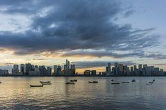 Hangzhou horisont royaltyfri fotografi