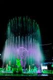 Hangzhou Illuminated building Wishan Square Stock Photo