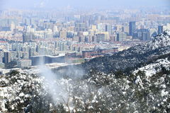 Hangzhou landscapes in winter after the snow Stock Photography