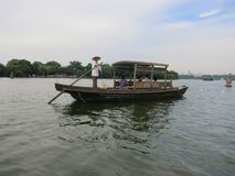 Hangzhou Leisure Boat. A boat for leisurely travel in West Lake in Hangzhou royalty free stock photos