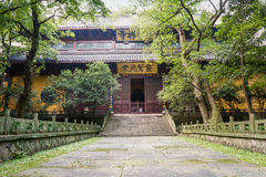 Hangzhou lingyin temple buddhist temple famous, in China Royalty Free Stock Images