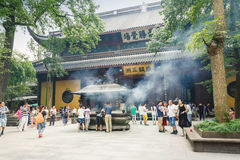 Hangzhou lingyin temple buddhist temple famous, in China Royalty Free Stock Photo
