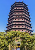 hangzhou Liuhe-Pagode Lyuheta Stockfoto