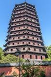 hangzhou Liuhe-Pagode Lyuheta Lizenzfreies Stockfoto