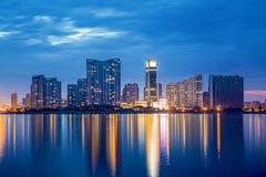 Hangzhou miasta nocy scena Zdjęcia Royalty Free