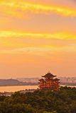 Hangzhou mountain scenery of the evening Royalty Free Stock Photos