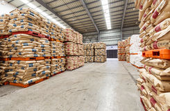 Hangzhou  North train station freight warehouse goods piled up many Polyvinylchlorid products, in china Royalty Free Stock Photography