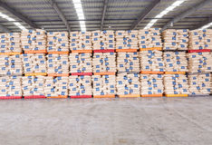 Hangzhou  North train station freight warehouse goods piled up many Polyvinylchlorid products, in china Royalty Free Stock Photo