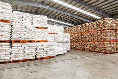 Hangzhou  North train station freight warehouse goods piled up many Polyvinylchlorid products, in china Stock Photography