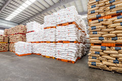 Hangzhou  North train station freight warehouse goods piled up many Polyvinylchlorid products, in china Royalty Free Stock Photos