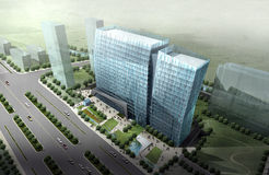 Hangzhou office building 01 Stock Photos