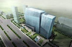 Hangzhou office building 01. Rendering for hangzhou office building Stock Photos