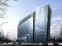 Hangzhou office building 03. Rendering for hangzhou office building Stock Photography
