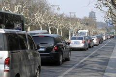Hangzhou przyciągań ruch drogowy Fotografia Stock