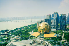 Hangzhou Qianjiang new city centre, overlooking the landscape,in  China Stock Image