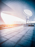 Hangzhou rail station in china Stock Photo