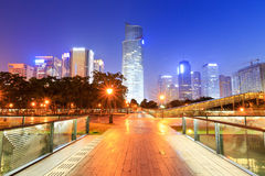 Hangzhou's central business district  at  night Stock Images