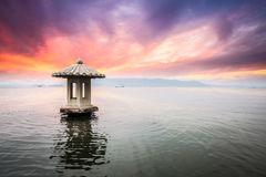 Hangzhou scenery in sunset Royalty Free Stock Photography