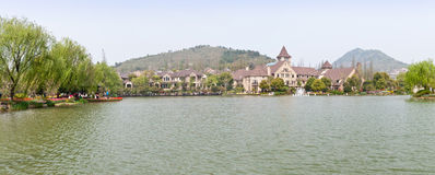 Hangzhou Shangri-la villa. Buildings and quiet natural environment, on March 30, 2014 in hangzhou, China. Villa is located in the suburbs of hangzhou royalty free stock images