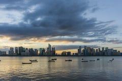 Hangzhou-Skyline lizenzfreie stockfotografie