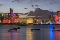 Hangzhou-Skyline stockbild