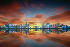 Hangzhou skyline, Zhejiang, China