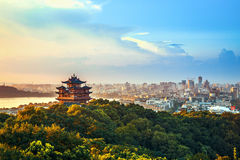 Hangzhou-Stadt-Landschaft Stockbilder