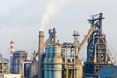 Hangzhou steelworks industrial buildings Royalty Free Stock Images