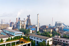 Hangzhou steelworks industrial buildings Royalty Free Stock Image