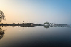 Hangzhou in sunrise Royalty Free Stock Photo