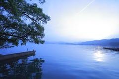 Hangzhou at sunset West Lake Stock Photos