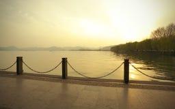 Hangzhou at sunset West Lake Stock Images