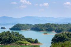 Hangzhou thousand island lake. Landscape, China Royalty Free Stock Photography