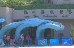 Hangzhou Underwater World aquarium China. People visit Hangzhou Underwater World aquarium in Hangzhou China royalty free stock photography