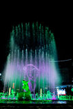 Hangzhou upplyst byggande Wishan fyrkant Arkivfoto