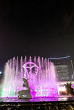 Hangzhou upplyst byggande Wishan fyrkant Royaltyfria Foton