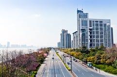 Hangzhou väg Arkivbilder