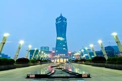 Hangzhou västra byggnad för gränsmärke för fyrkant för sjökultur Arkivfoton