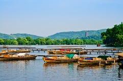 Hangzhou västra Lakelandskap Royaltyfri Foto