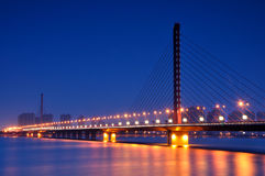 Hangzhou West Hing Bridge Night Stock Photos