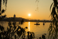 Hangzhou West Lake. One King West Lake in Hangzhou, China is far Pagoda Royalty Free Stock Photography