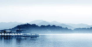 Hangzhou west lake in China. Beautiful scenery of Hangzhou west lake in China