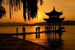 Hangzhou West Lake. China Hangzhou West Lake. scenery tour stock image