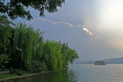 Hangzhou west lake with clouds Stock Images