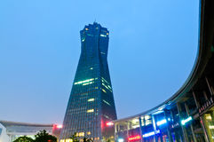 Hangzhou west lake culture square  landmark building Royalty Free Stock Image