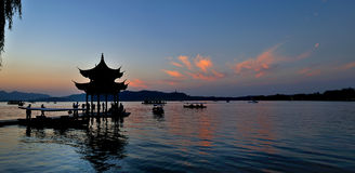 Hangzhou West Lake Night Royalty Free Stock Images