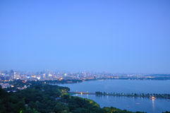Hangzhou West Lake Night Royalty Free Stock Photo