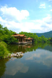 Hangzhou west lake scenery. ,Hangzhou xihu scenic landscapes, and the mountains Royalty Free Stock Images