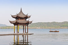 Hangzhou west lake scenery, in China Royalty Free Stock Photo